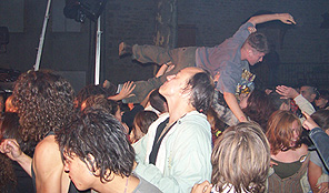 Public rock stage diving.